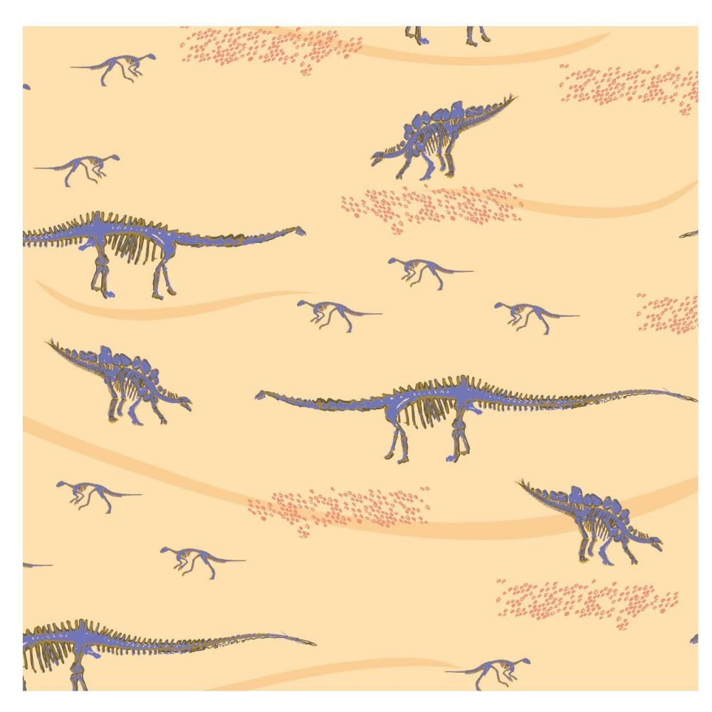 EXPLORE FOSSILS HUNT, 100% COTTON BY THE NATURAL HISTORY MUSEUM.  SPECIAL O