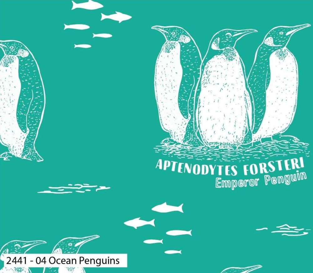 EXPLORE OCEAN PENGUINS, 100% COTTON BY THE NATURAL HISTORY MUSEUM.  SPECIAL