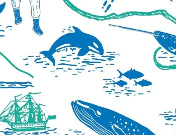 EXPLORE OCEAN MAP, 100% COTTON BY THE NATURAL HISTORY MUSEUM.