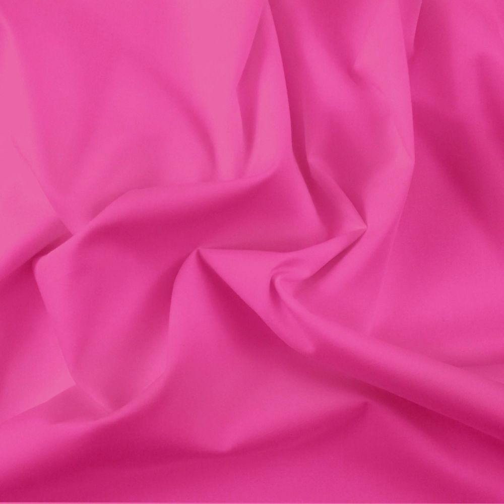 FINE PLAIN DYED POLY COTTON FOR DRESS MAKING, CRAFTS ETC, CERISE.