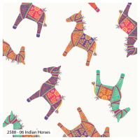 DEBBIE SHORE INDIAN HORSE, 100% COTTON.  SPECIAL OFFER PRICE.