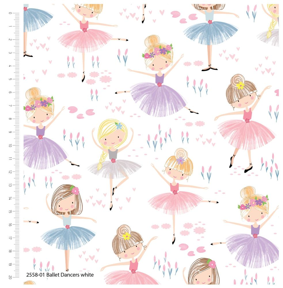 GIRLS DAY OUT RANGE 'BALLET DANCERS', 100% COTTON.