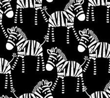 SAFARI CENTRAL ZEBRA MONOCHROME, 100% COTTON.