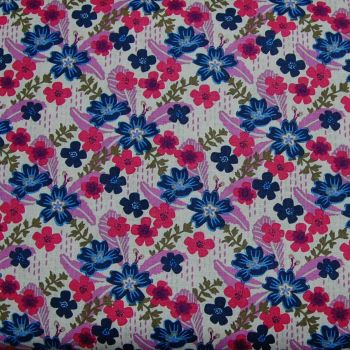 ANNA BELLA MULTI FLORAL, 100% COTTON.