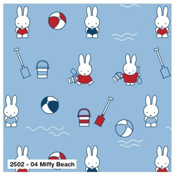 MIFFY BEACH ON 100% COTTON BY THE COTTON CRAFT CO'.
