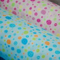 COTTON MIX, BUTTON PRINT AVAILABLE IN 2 COLOURWAYS.