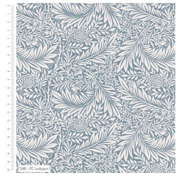 WILLIAM MORRIS 'LARKSPUR' FROM THE V&A COLLECTION, 100% COTTON