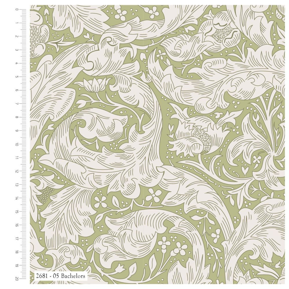 WILLIAM MORRIS 'BACHELORS' FROM THE V&A COLLECTION, 100% COTTON