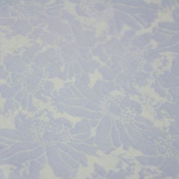 PALE BLUE CHINTZ FLORAL BY FABRIC PALETTE, 100% COTTON.