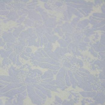 PALE BLUE CHINTZ FLORAL BY FABRIC PALETTE, 100% COTTON.