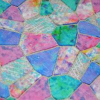MULTI STAINED GLASS BY CONNIE HAYLEY FOR 3 WISHES, 100% COTTON.