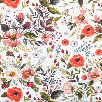 BEAUTIFUL FLORALS FROM THE CRAFT COTTON COMPANY, 100% COTTON POPLIN. FL2