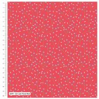CUTE FLORAL RED FROM THE CRAFT COTTON COMPANY, 100% COTTON.
