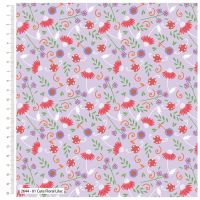 CUTE FLORAL LILAC FROM THE CRAFT COTTON COMPANY, 100% COTTON.