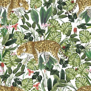 IN THE JUNGLE 'CHEETAH', FROM THE FABRIC PALETTE 100% DIGITAL PRINTED COTTON.