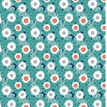 STUART HILLARD KYOTO RANGE CRAFT COTTON COMPANY, 100% COTTON. LILY PADS JADE.
