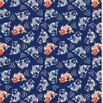 STUART HILLARD KYOTO RANGE CRAFT COTTON COMPANY, 100% COTTON. KOI CARP.