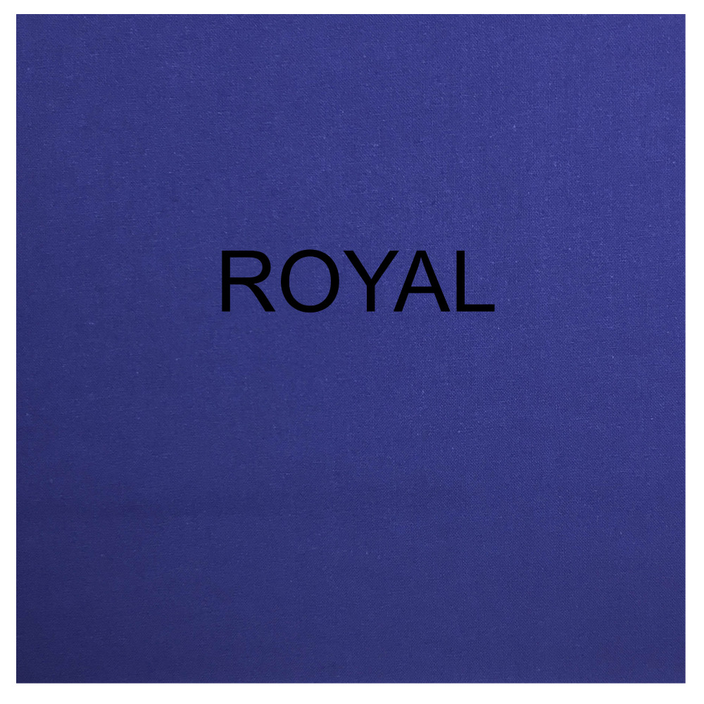 100% COTTON, HOMESPUN FOR CRAFTS, QUILTING, PATCHWORK ETC. ROYAL.
