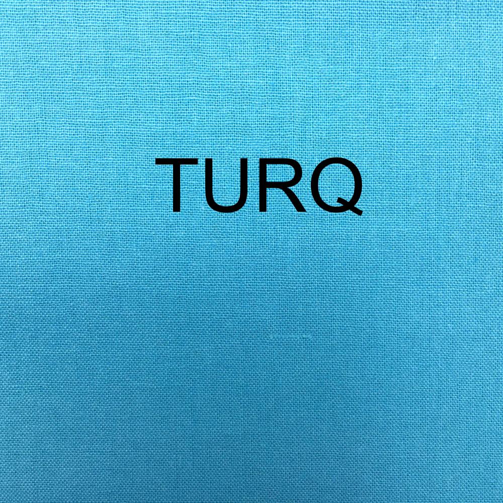 100% COTTON, HOMESPUN FOR CRAFTS, QUILTING, PATCHWORK ETC. TURQ.