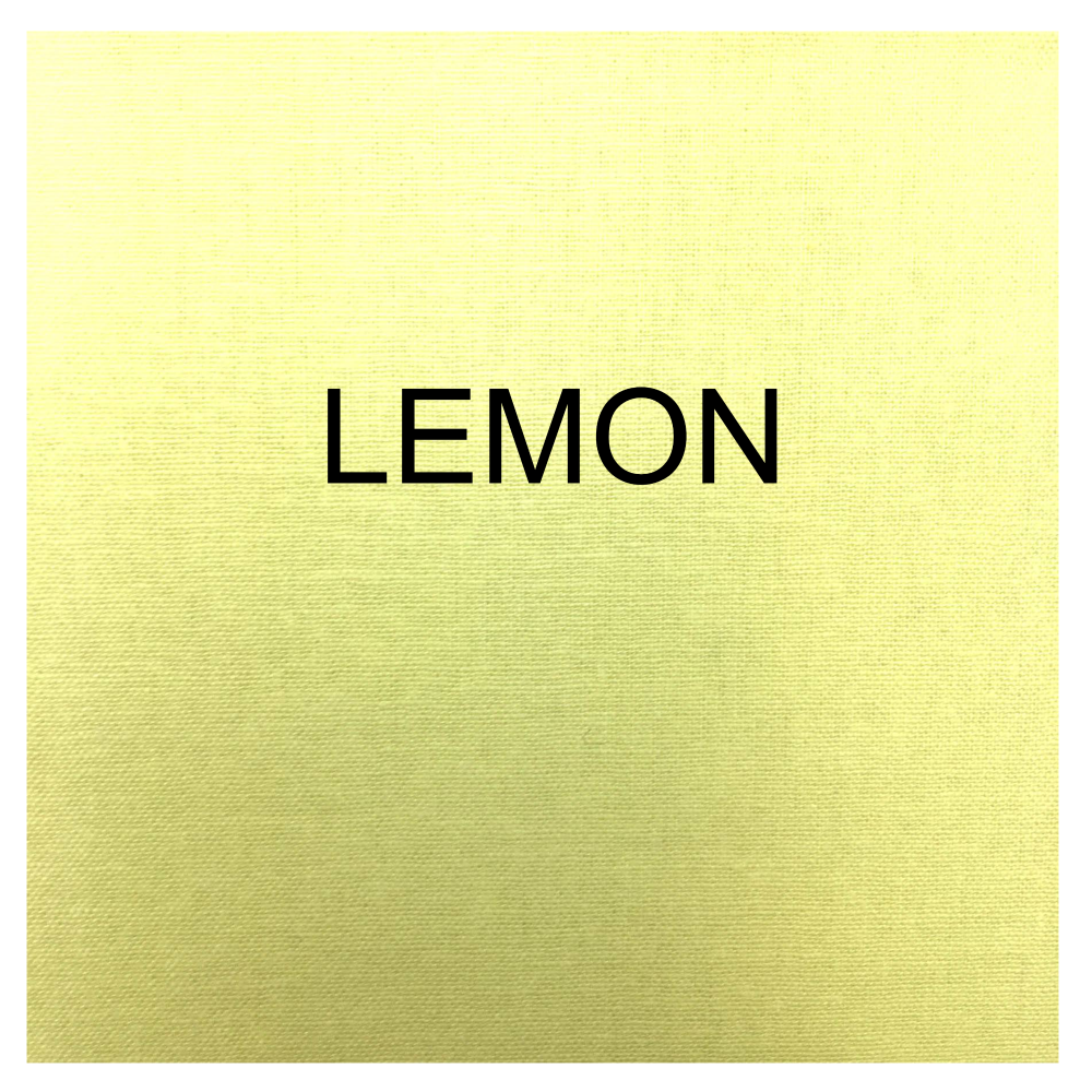 100% COTTON, HOMESPUN FOR CRAFTS, QUILTING, PATCHWORK ETC. LEMON.