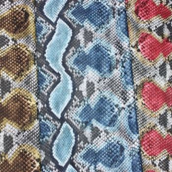 FAUX SNAKE SKIN MATTE LEATHERETTE FOR SOFT FURNISHINGS, BAGS, DRESS MAKING ETC.