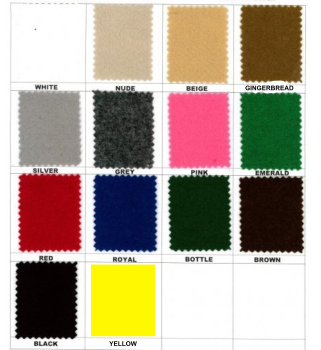 FELT BY THE METRE, LOTS OF COLOURS TO CHOOSE FROM.