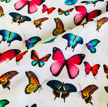 LITTLE JOHNNY BUTTERFLIES, DIGITALLY PRINTED 100% COTTON.