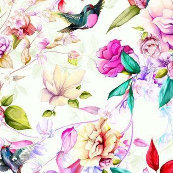 LITTLE JOHNNY MAGNOLIA FLOWERS, DIGITALLY PRINTED 100% COTTON.
