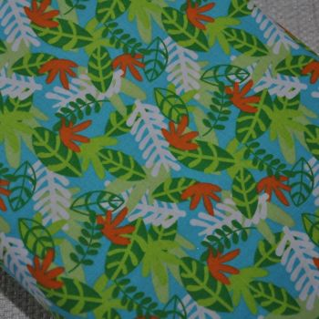 FABRIC PALETTE JUNGLE LEAVES, 100% COTTON.