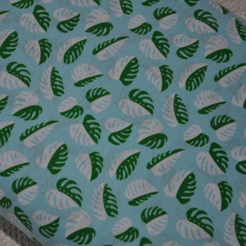 ANNA BELLA AMAZONIA JUNGLE LEAVES, 100% COTTON.