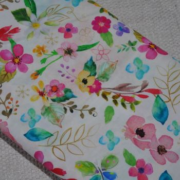 3 WISHES FABRIC 'BLOOM WITH GRACE' BY CONNIE HALEY, 100% COTTON.