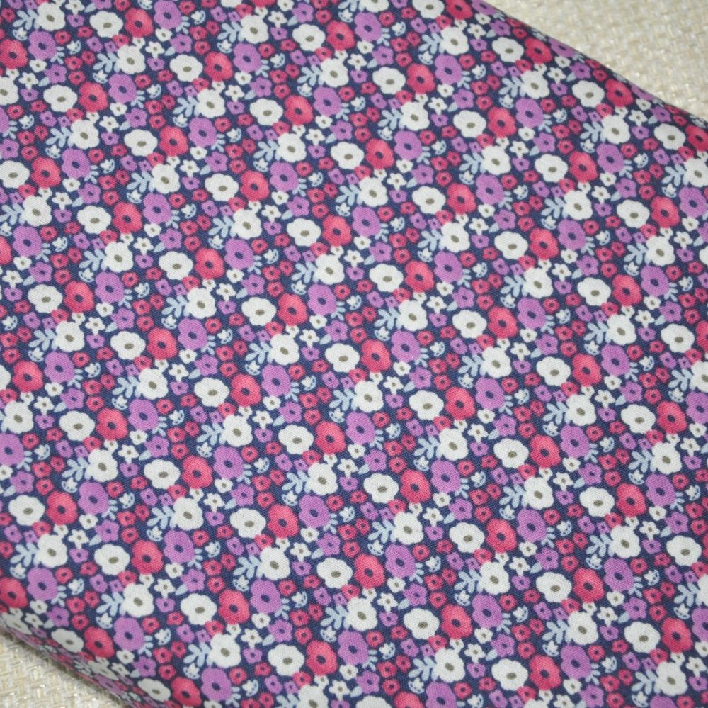 ANNA BELLA 'SMALL FLORAL', 100% COTTON.