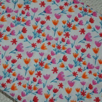 PAINTED FLORAL FROM THE CRAFT COTTON COMPANY, 100% COTTON.