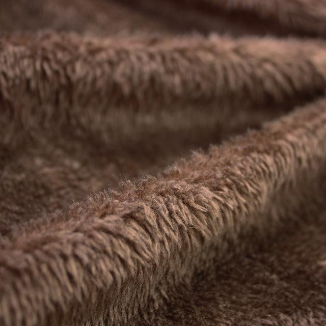 BEIGE, CHESTNUT OR CHOCOLATE CUDDLE FUR, FAUX LAMBSWOOL, 61 INCH WIDE.