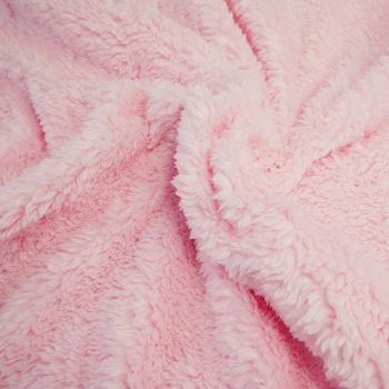BABY PINK CUDDLE FUR, FAUX LAMBSWOOL, 61 INCH WIDE.