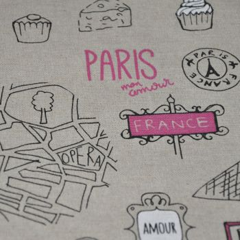 CHATHAM GLYN LINEN COTTON LOVE PARIS FABRIC FOR SOFT FURNISHINGS ETC
