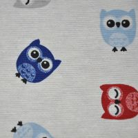 CHATHAM GLYN LINEN COTTON LOFTY THE OWL FABRIC FOR SOFT FURNISHINGS ETC