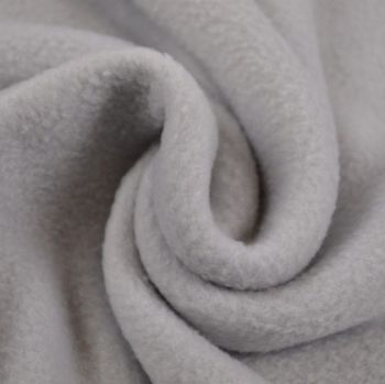 SILVER GREY POLAR FLEECE, ANTI PILL, 56 INCH WIDE.