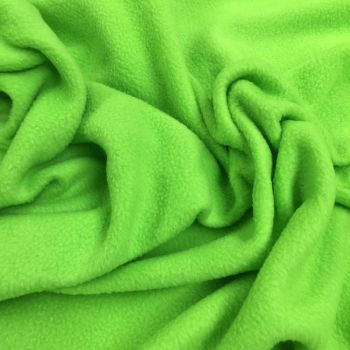 LIME POLAR FLEECE, ANTI PILL, 56 INCH WIDE.