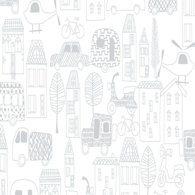 MONE N ALONG BY FABRIC EDITIONS, TOWN OUTLINE, 100% COTTON.