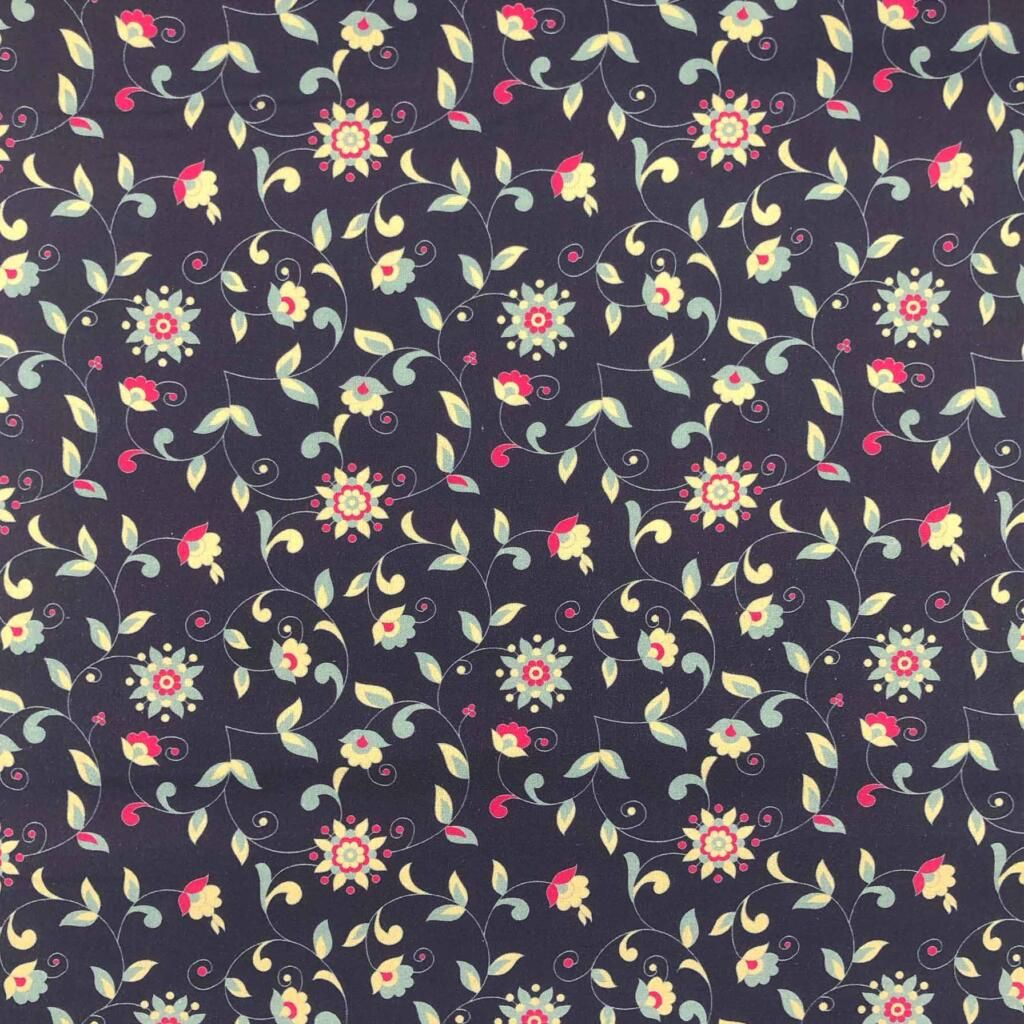 FROM THE HIP FLORALS AND BIRDS COLLECTION. FL4, 100% COTTON.