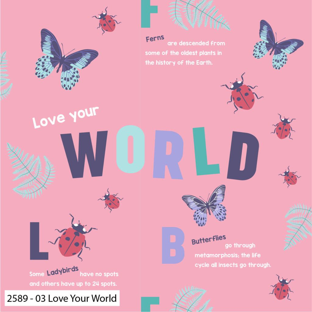 NATURAL HISTORY MUSEUM LOVE YOUR WORLD 100% COTTON.