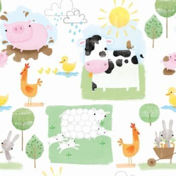 PLAYFUL FARM FROM THE CRAFT COTTON COMPANY, 100% COTTON.