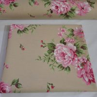 CHATHAM GLYN LINEN COTTON VINTAGE ROSE FABRIC FOR SOFT FURNISHINGS ETC