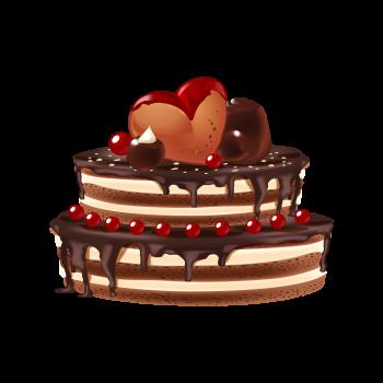 8 INCH FELT SQUARE,  CHOC CAKE (OPTION A)