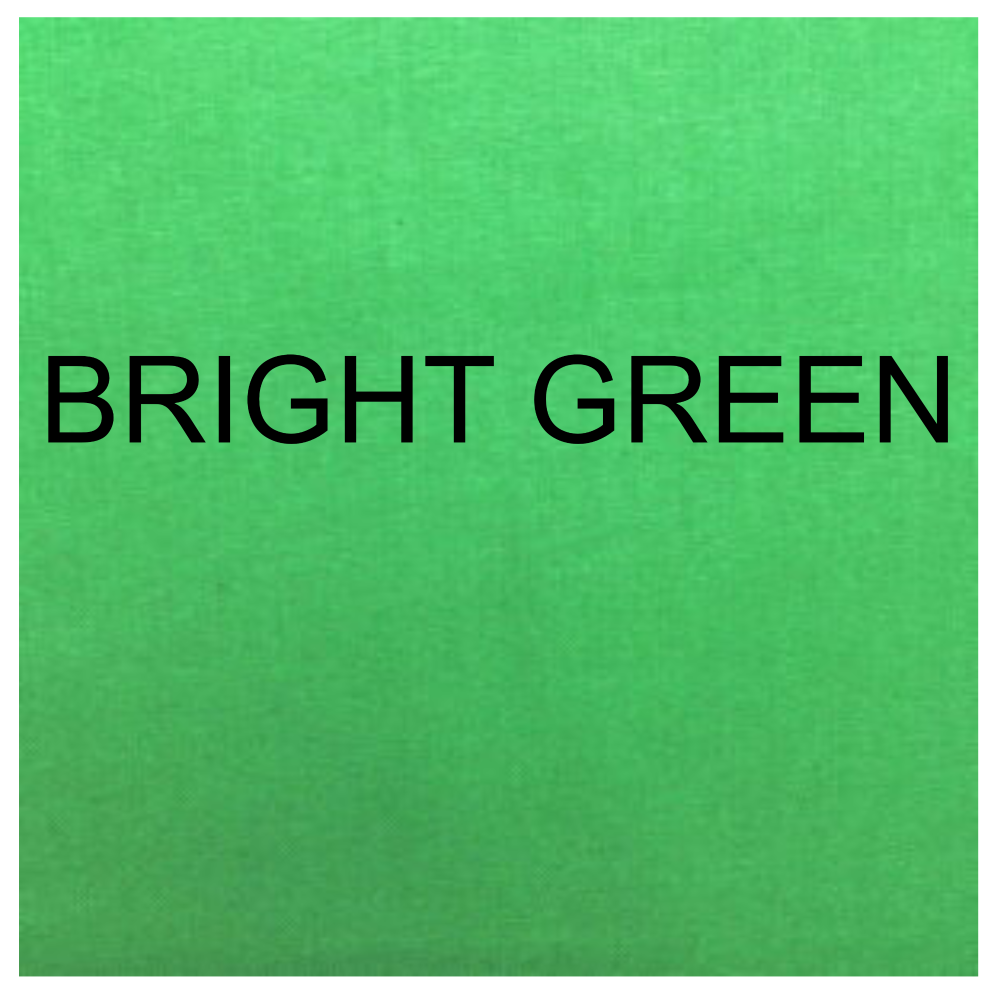 100% COTTON, HOMESPUN FOR CRAFTS, QUILTING, PATCHWORK ETC. BRIGHT GREEN.