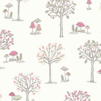 CHATHAM GLYN WOODLAND FOREST CREAM 100% COTTON.