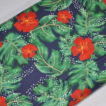 SARAH PAYNE BIRDS OF PARADISE RANGE CRAFT COTTON COMPANY, 100% COTTON. HIBISCUS.