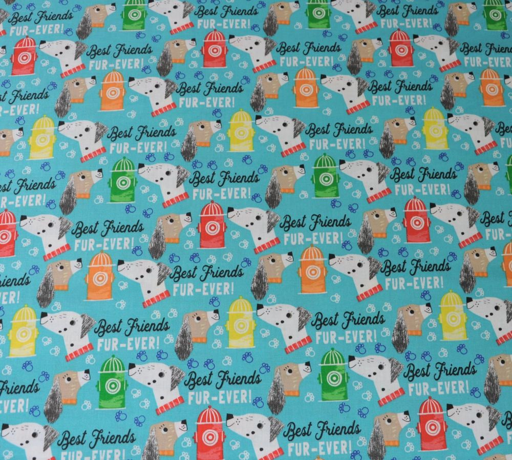 BEST FRIENDS FUR EVER, DOG PRINT COLLECTION BY FABRIC EDITIONS, 100% COTTON