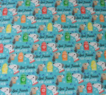 BEST FRIENDS FUR EVER, DOG PRINT COLLECTION BY FABRIC EDITIONS, 100% COTTON.